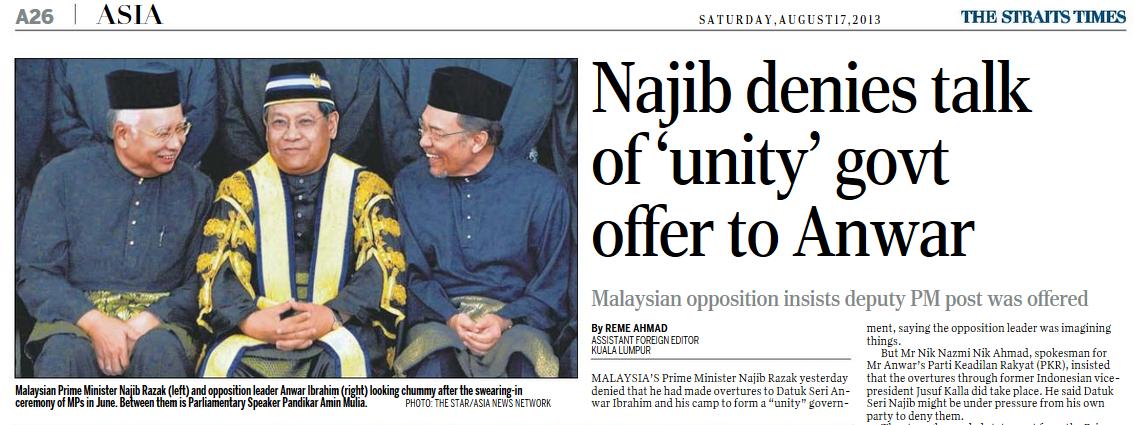 Najib denies